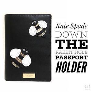 Kate Spade Down The Rabbit Hole Passport Holder